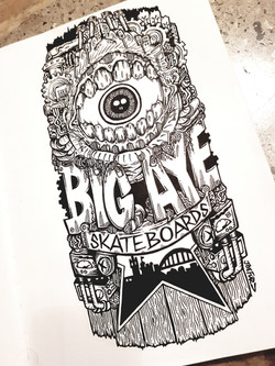 Big Aye Skateboards Logo. 2019