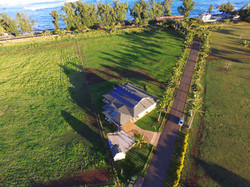 Aerial shot of the North Shore Villa