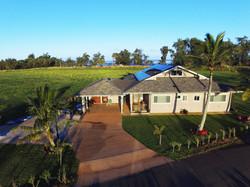 Aerial view of the North Shore Villa