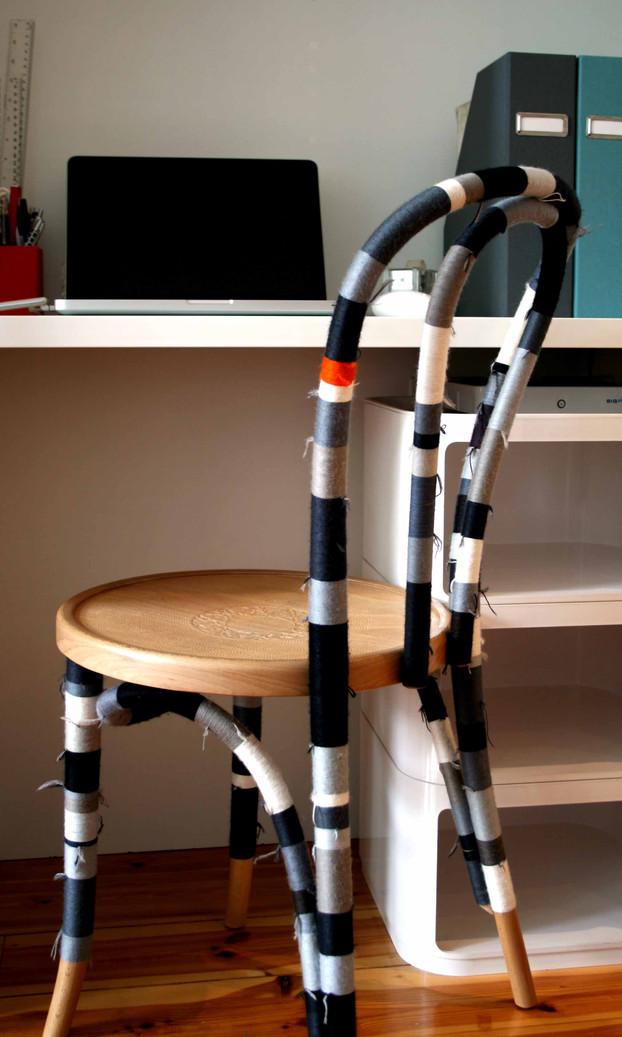 chair striped