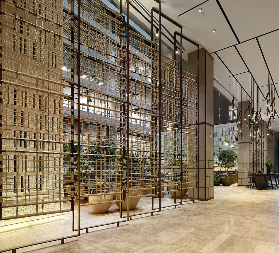 161 Collins Street rope screen