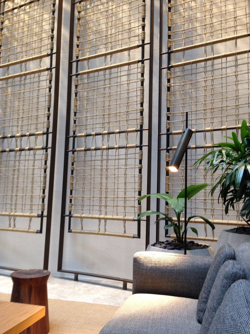 architectural woven rope screen