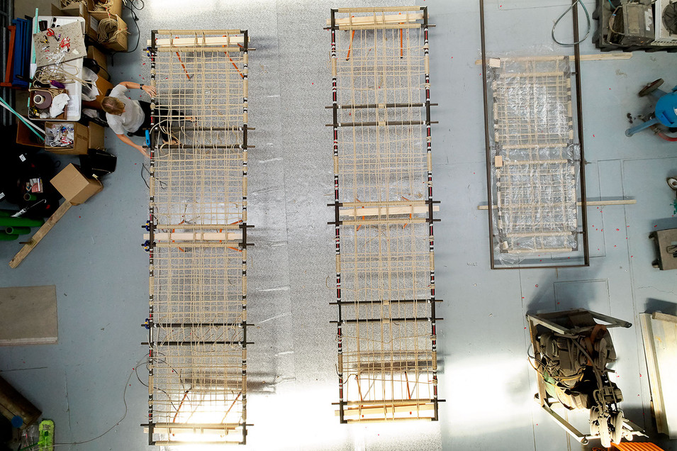 rope screens in the factory                  Chris Ott Photography