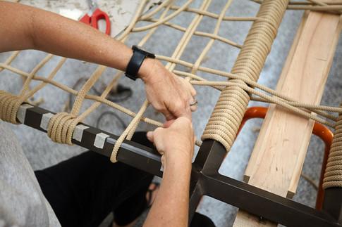 weaving work in progress