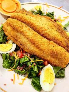 Chef's Salad w/ Fried Fish