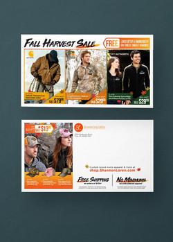 Fall Harvest Apparel Postcard