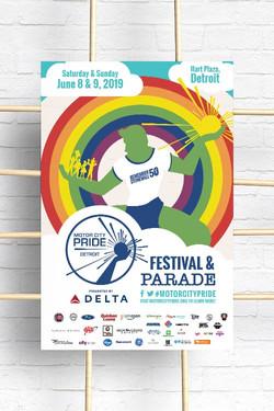 MotorCity Pride 2019 Poster