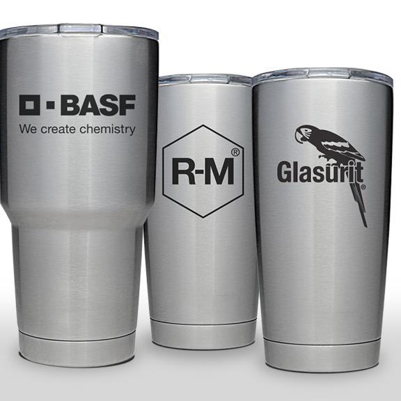 BASF, Glasurit and R-M Yeti Tumblers