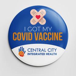 Central City COVID-19 Button