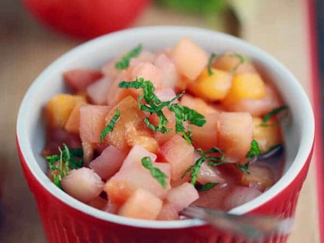 Pomegranate Peach Chutney