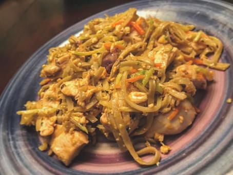Healthy Chicken Pad Thai