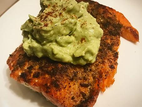 Salmon with Avocado Cream