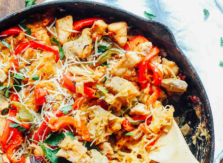 Healthy Cajun Chicken Spaghetti Squash