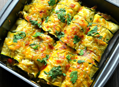Low-carb Zucchini Enchiladas