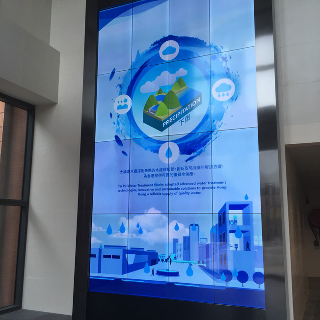 Water treatment works exhibition gallery