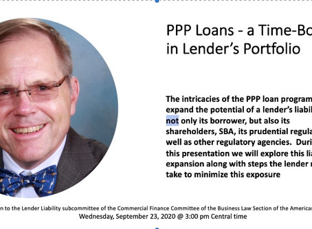 PPP Loans - a Time-Bomb in Lender's Portfolio