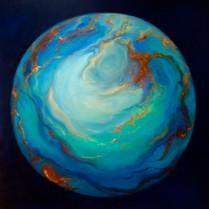 'Orbe d' Opale' 80cm x 80cm 2021