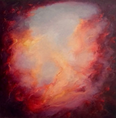 'Phoenix' oil on canvas 60cm x 60cm 2021
