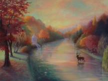 'Autumn Idyll' oil on canvas 80cm x 120cm