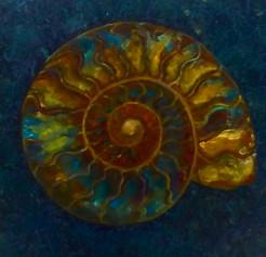 Green Gold Ammonite