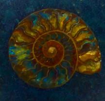 Green Gold Ammonite. SOLD