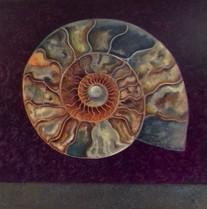 'Ammonite Magenta' oil on canvas SOLD