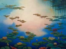 'Waterlilies' 100cm x 100cm