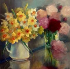 Joie des Fleurs Oil on canvas 60cm x 60c