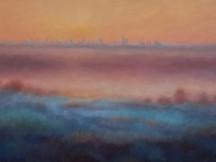 'Misty View of London' 50cm x 100cm 2021