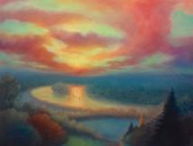 'Thames Sunset' 80cm x 80cm 2021