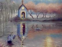 'The Portal' oil on canvas 60cm x 60cm 2