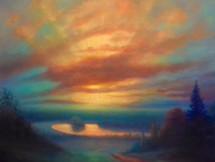 'Richmond Sunset' 80cm x 100cm 2021.jpeg