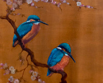 'Two Kingfishers' oil on canvas 2021