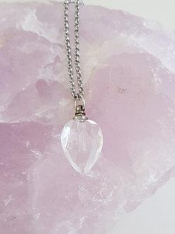 Crystal Glass Leaf  Pendant Perfume Gift Set