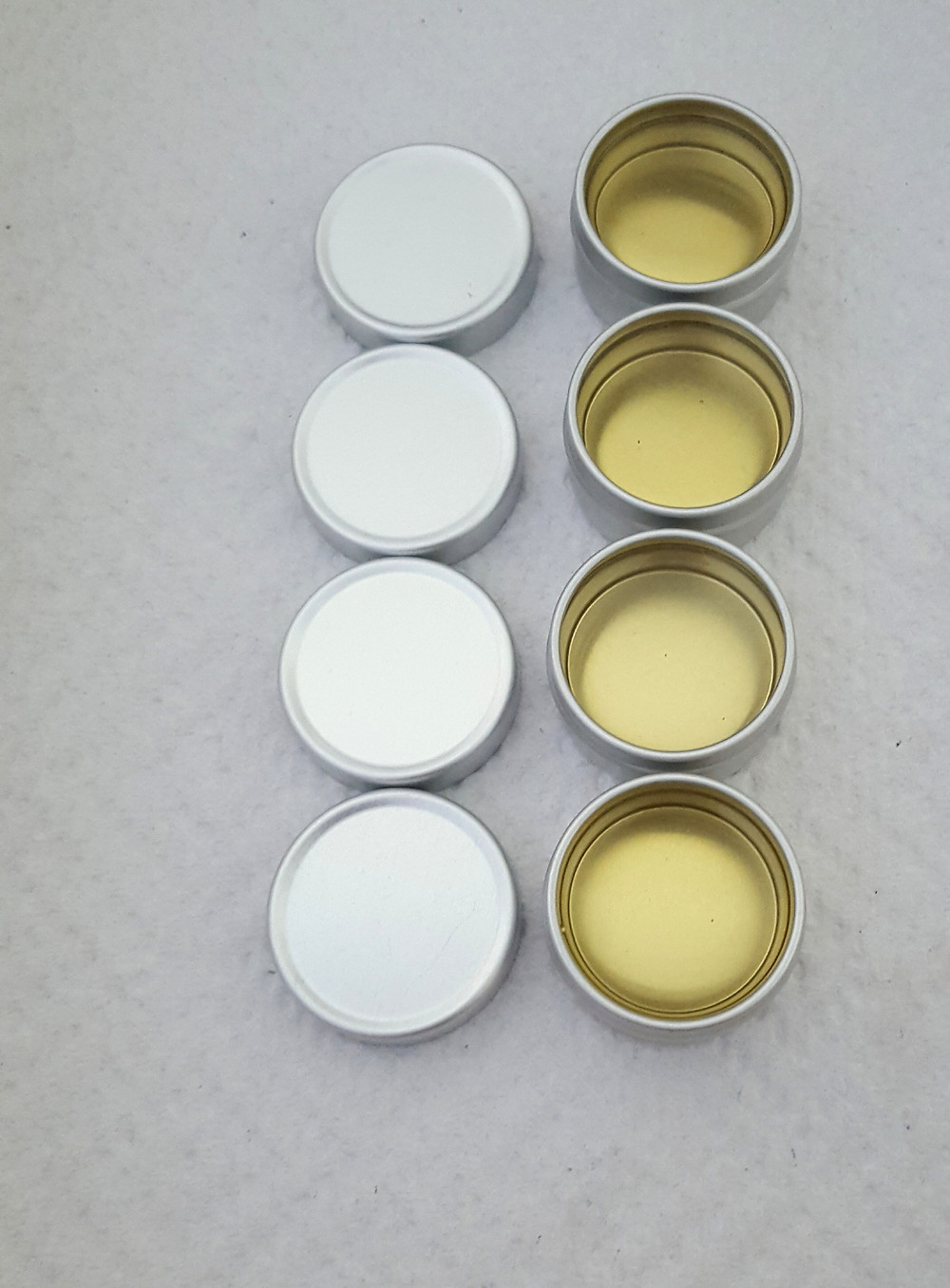 Just poured balms ready for curing. Little pools of golden light.
