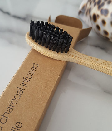 Bamboo Toothbrush TCTC- Charcoal Infused Bristles