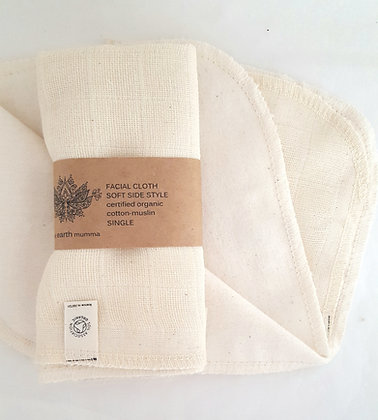 Facial Cloth  Organic Cotton-Muslin