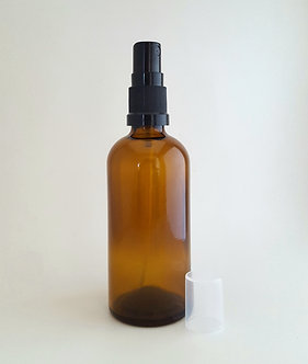 Amber Glass Bottle with lid