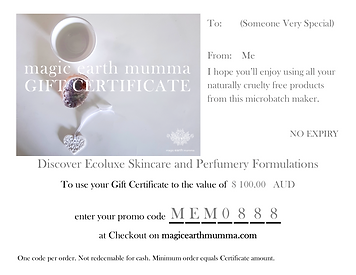 Gift Certificate digital example Abalone