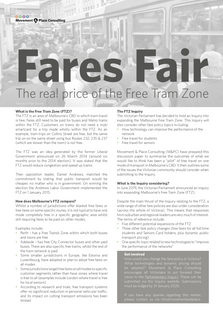 Fares Fair - The real price of the Free Tram Zone