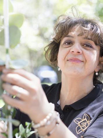 Décoration florale  mariage arche - Laurence Lacheré fleuriste antibes