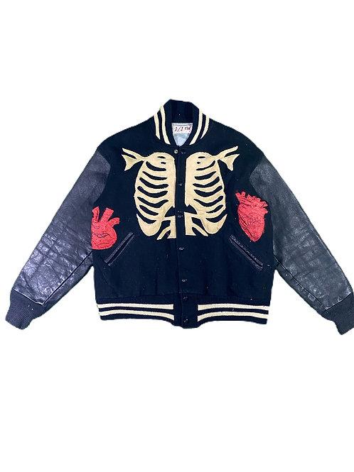 Skeleton varsity jacket