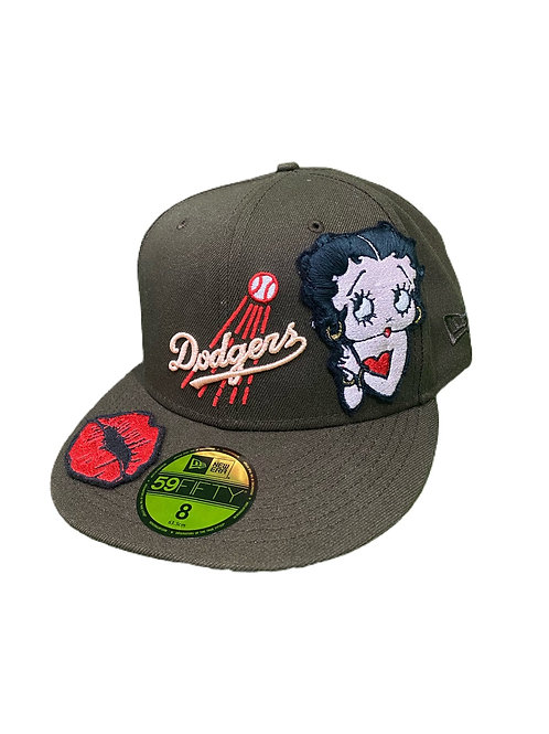 Dodgers Betty boop fitted cap