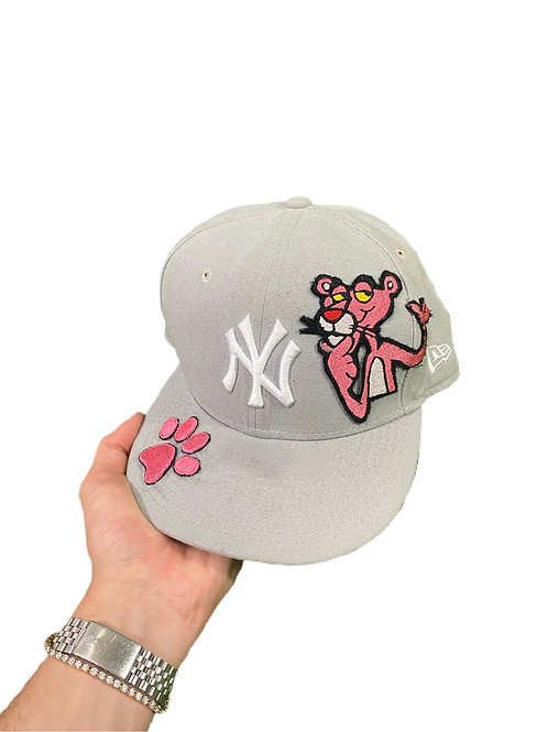 Gray Pink panther fitted cap