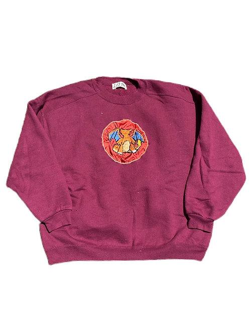 Charizard Hand embroidered crewneck sweater
