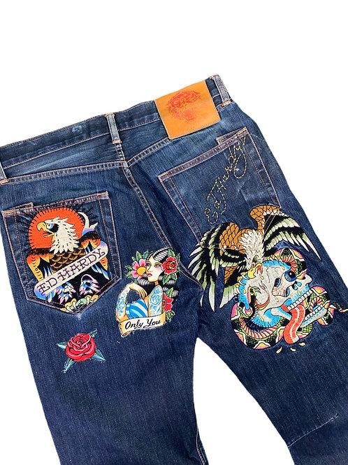 Ed hardy tattoo jeans