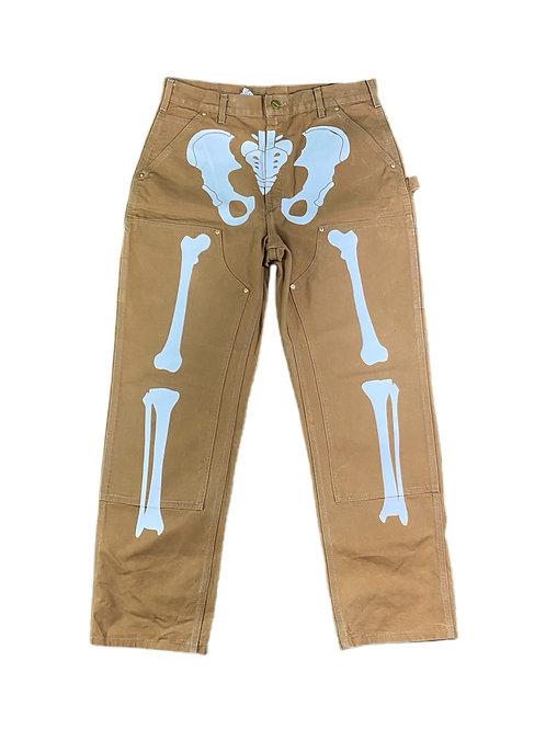 Carhartt double knee skeleton pants