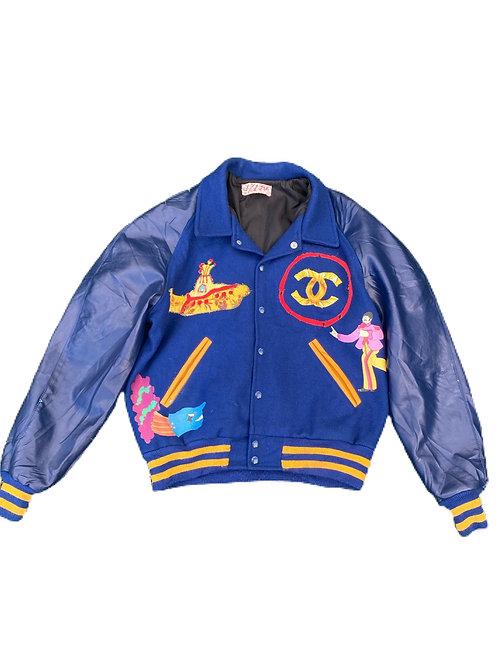 The Beatles Yellow Submarine chanel varsity jacket