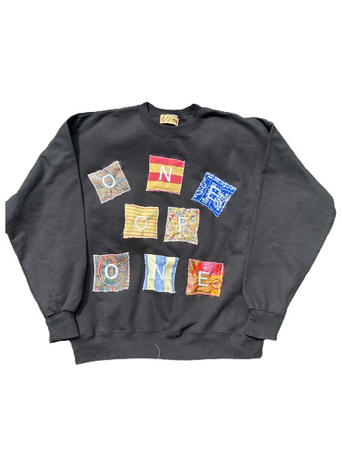 Block Letter spell out crewneck