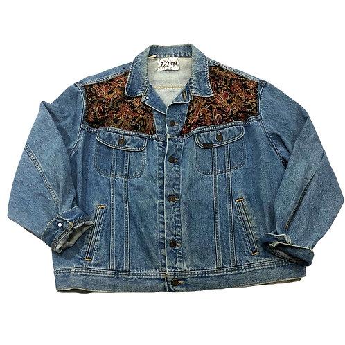 Paisley Denim Trucker Jacket